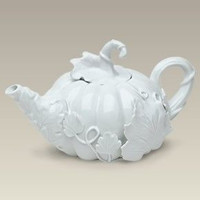 White Pumpkin Teapot - 5 Left in Stock