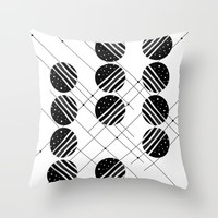 Black & White Graphic 3 Throw Pillow by marcogonzalez