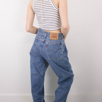 Vintage (Size Large) Levis 560 High Waisted Denim Jeans