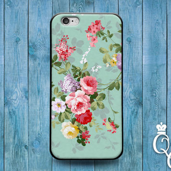 iPhone 4 4s 5 5s 5c 6 6s plus + iPod Touch 4th 5th 6th Gen Cute Green Colorful Vintage Flower Floral Phone Case Cool Pretty Custom Cover