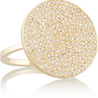 Jennifer Meyer - Large Circle 18-karat gold diamond ring