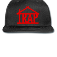 trap house embroidery hat - Snapback Hat