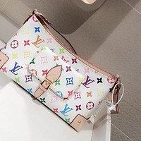 LV Louis Vuitton METIS color letter logo shoulder bag crossbody bag