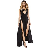 Sexy Maxi Length Dress with Front Slits