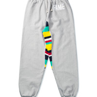 Heather Grey Stripe Gusset Sweatpant