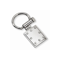 Men's Stainless Steel Polished Key Chain - Engravable Personalized Gift Item