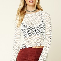 Contemporary Medallion Lace Top