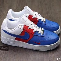NIKE AIR Force 1 2018 Men's Fashion Casual Shoes F-A36H-MY Blue/Red/White