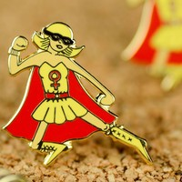 Super Girl... Enamel Pin