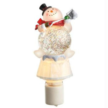 Snowman Night Light - Swivel Base And Plug Compatible With Any Outlet Orientation