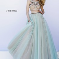 Sherri Hill 11271 Crop Top Ball Gown Prom Dress