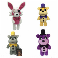 30cm PLush GLODEN Five Nights At Freddy's Fox FNAF Freddy Fazbear Bear&Foxy Plush Toys Doll