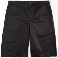 Blue Crown Classic Mens Chino Shorts Black  In Sizes