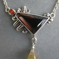 One of a Kind Sterling Silver Smokey Quartz Pendant