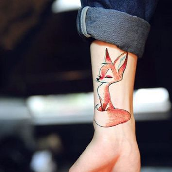 Waterproof Temporary Tattoo cute squirrel fox dog snake animal tatto stickers flash tatoo fake tattoos for girl women lady 4