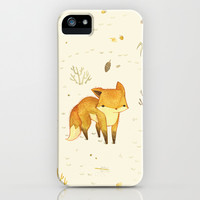Lonely Winter Fox iPhone & iPod Case by Teagan White
