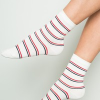 Red White and Blue Stripe Socks