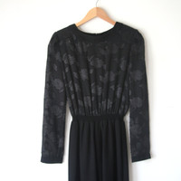 Vintage  Black 1980s Jumper New Year's Eve Outfit
