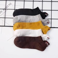 Champion men's boat socks fashion printed socks a box of four pairs of high quality and low price