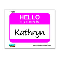 Kathryn Hello My Name Is Sticker