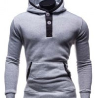Light Gray Long Sleeve Hooded