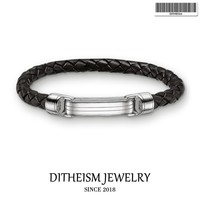 Woven Leather Wrap Bracelets with Spring Crap, 2018 New Silver Fashion Jewelry Classic Punk Gift for Men Boy Women Girls