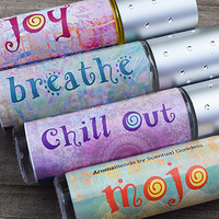 AromaBlends Set - Aromatherapy Essential Oil Blends - Joy, Breathe, Chill Out & Mojo