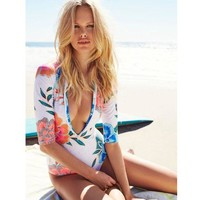 2018 Sexy Siamese Swimsuit Spa Surf Diving Long Sleeve Swimsuit
