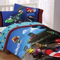 Super Mario Race Is on Twin Comforter