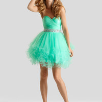 Sweetheart Ruched Top Formal Prom Dress Clarisse 2303