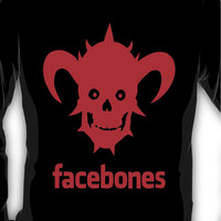 Dethklok's Facebones- Red Long Sleeve