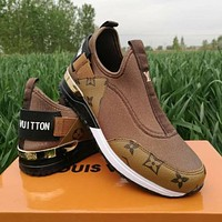 LV Louis Vuitton Classic colorblock letters men and women sneakers Shoes