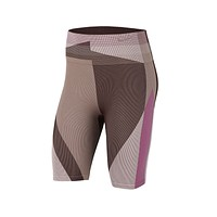 Nike Women's Icon Clash Seamless Training Shorts Pink Brown