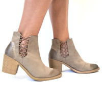 Harley Bootie In Taupe
