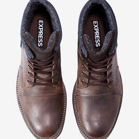 brown leather mesh insert boot