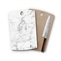 White Marble Agate Classic Rectangle Cutting Board Trendy Unique Home Decor Cheese Board