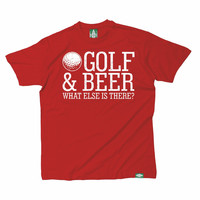 Out Of Bounds Men's Golf And Beer What Else Is There Golfing T-Shirt