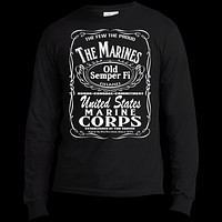 The Marines Aged To Perfection Long Sleeve Made in the US T-Shirt