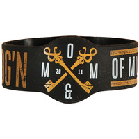 Of Mice & Men Men's Still Ydg'n Rubber Bracelet Black