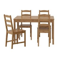 IKEA Table and 4 Chairs Set Solid Pine Wood Dining Kitchen