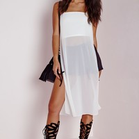 Missguided - Strappy Longline Cami White