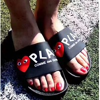 PLAY COMME des GARCONS: Comfortable Loose Slippers(3 color)