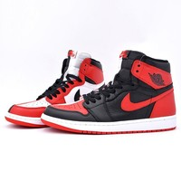 Air Jordan 1 Tide brand color matching high-top shoes