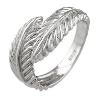 Sterling Silver Feathers Ring