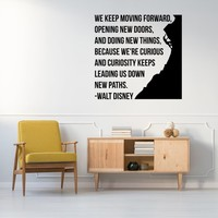 Walt Disney Quote Sticker Vinyl Stickers - House Wall Art Famous Quotes Removable Decals - Motivational Keep Moving Decor Decorative Decal