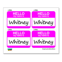 Whitney Hello My Name Is - Sheet of 4 Stickers