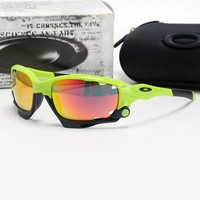 Oakley sunglasses jaw bone outdoor glasses polarized Replaceable lens green red