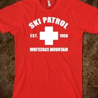 Awesome Whiteface Mountain Ski Patrol Red and White T-Shirt