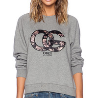 Obey Parker Crew in Gray