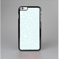 The Light Teal Blue & White Floral Sprout Skin-Sert Case for the Apple iPhone 6